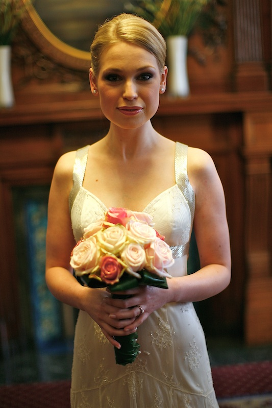 Botanical Illustrator Charlotte Argyrou on her wedding day
