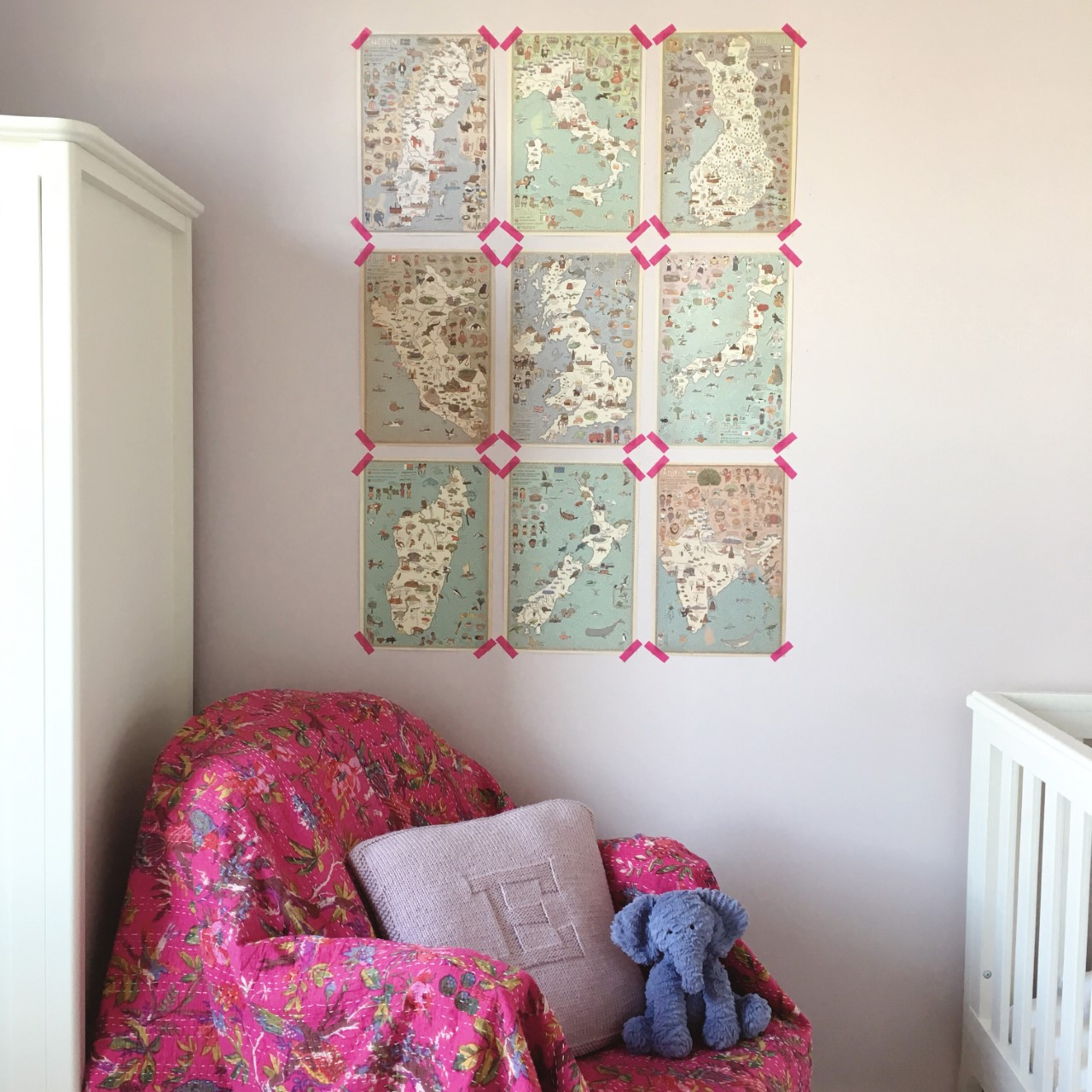 Nursery design in the home of Botanical Artist Charlotte Argyrou