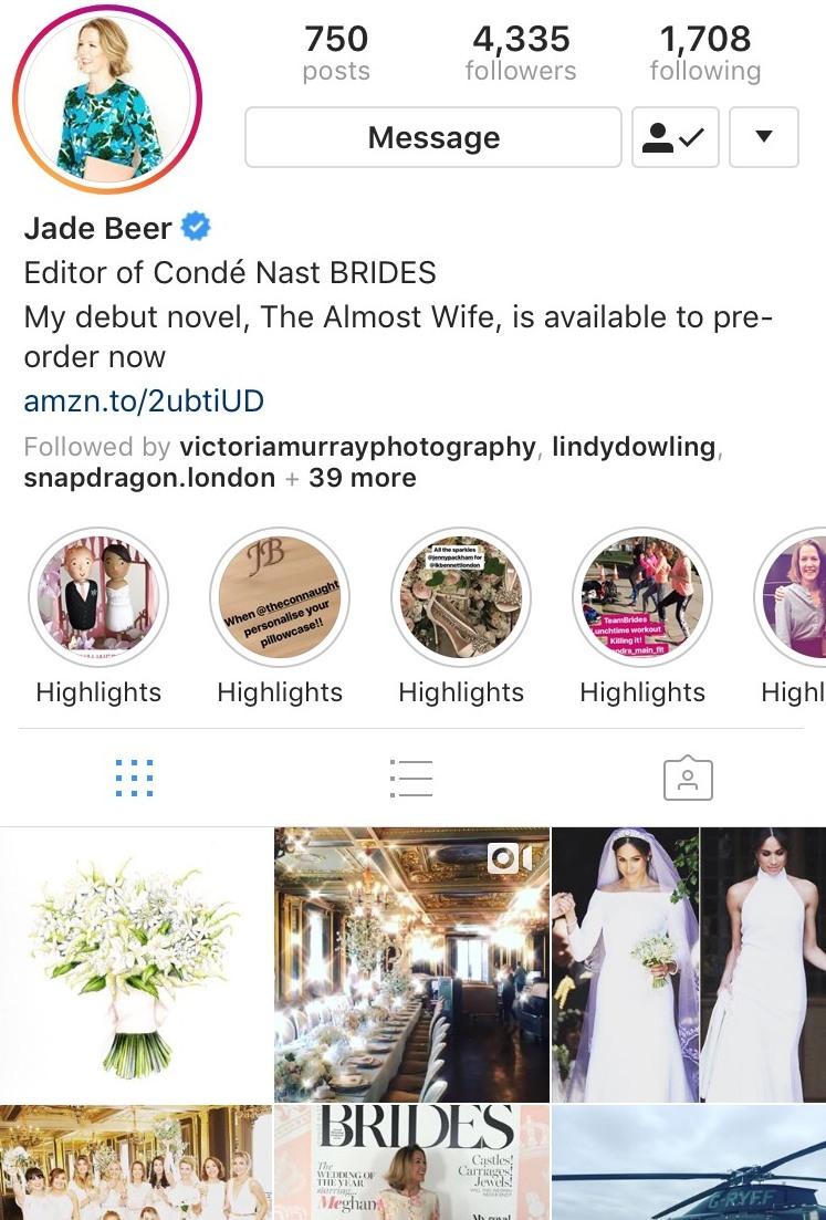 Duchess of Sussex wedding bouquet illustration by Charlotte Argyrou on Jade Beer Instagram