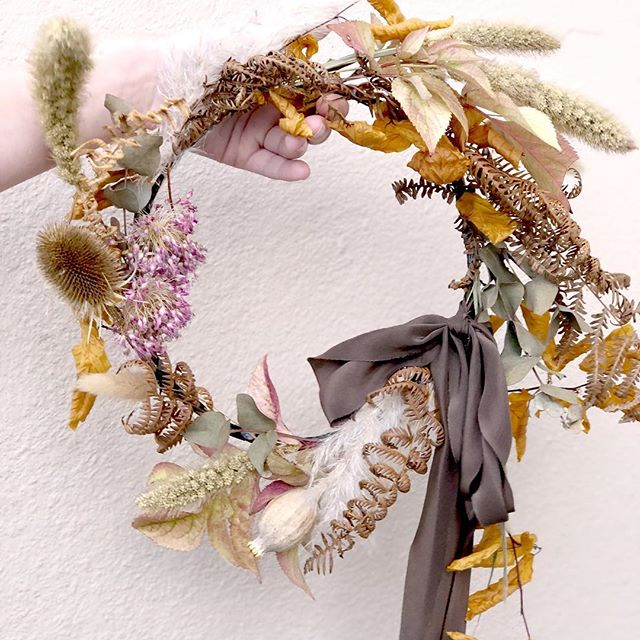 Kate Cullen wreath on lifestyle blogger Charlotte Argyrou's blog