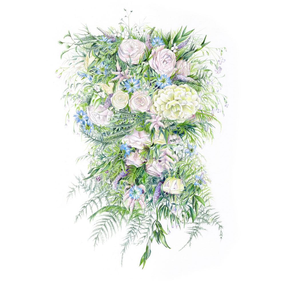 wedding bouquet illustration unique wedding business charlotte argyrou