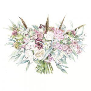 feathers bouquet on charlotte argyrou wedding bouquet artist one year wedding anniversary blog