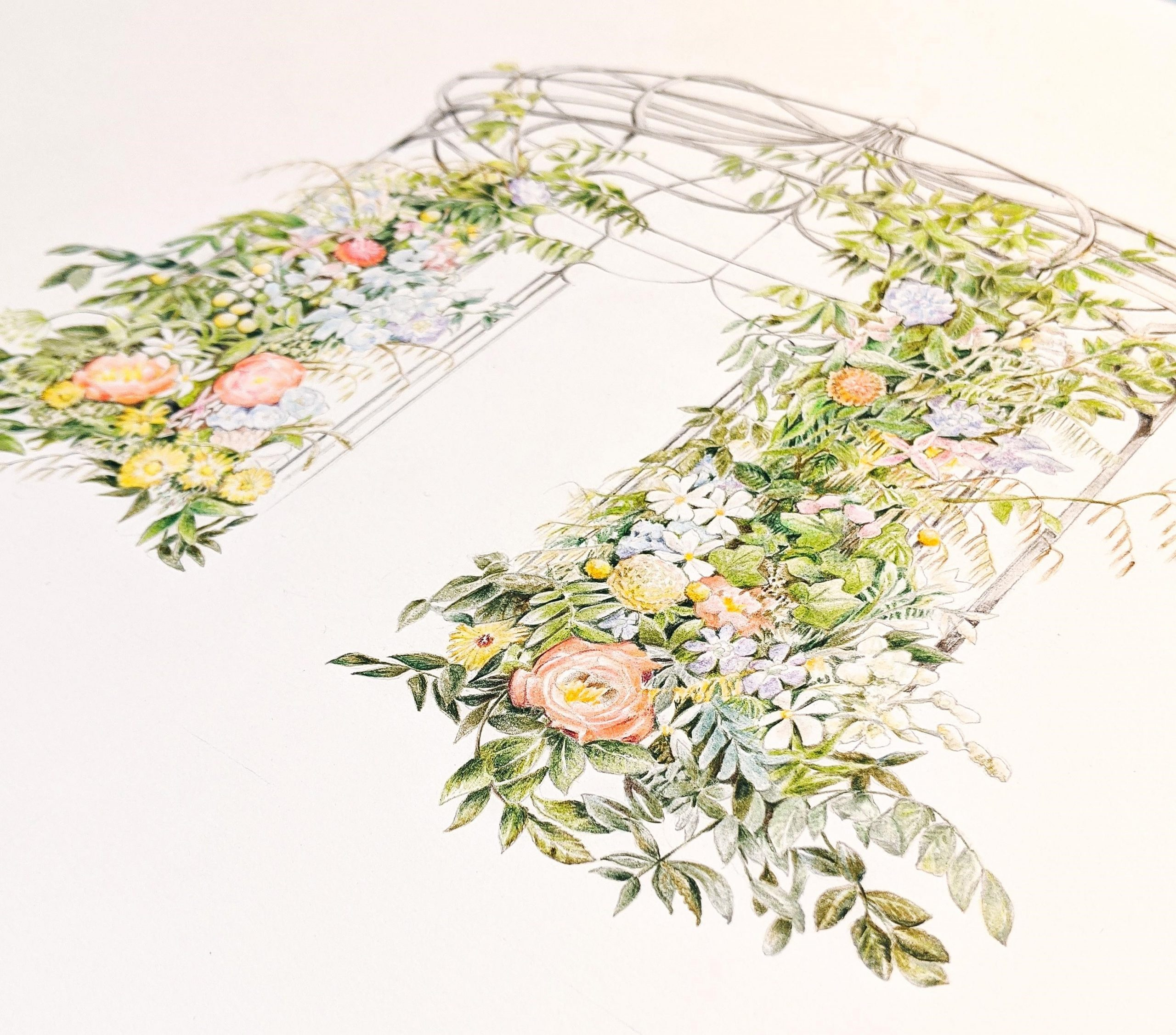 illustrated arch in 2021 floral trends report