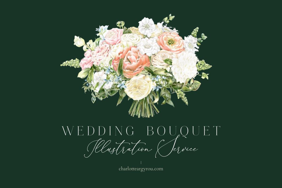 award winning botanical illustrator wedding bouquet illustration service