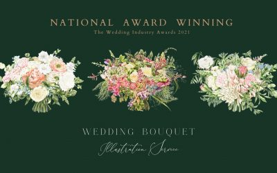 Wedding Gift Idea – Wedding Bouquet Illustration Service wins National Award